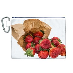 Strawberries Fruit Food Delicious Canvas Cosmetic Bag (xl)