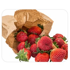 Strawberries Fruit Food Delicious Double Sided Flano Blanket (medium)