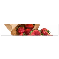 Strawberries Fruit Food Delicious Flano Scarf (Small)