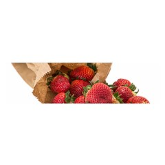 Strawberries Fruit Food Delicious Satin Scarf (oblong)