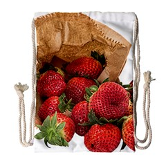Strawberries Fruit Food Delicious Drawstring Bag (Large)