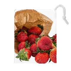 Strawberries Fruit Food Delicious Drawstring Pouches (extra Large)