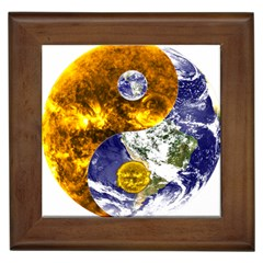 Design Yin Yang Balance Sun Earth Framed Tiles