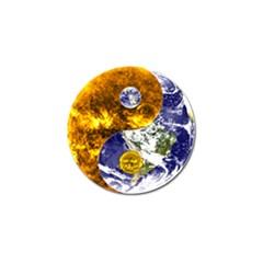 Design Yin Yang Balance Sun Earth Golf Ball Marker
