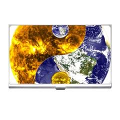 Design Yin Yang Balance Sun Earth Business Card Holders
