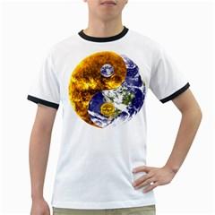 Design Yin Yang Balance Sun Earth Ringer T Shirts