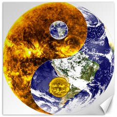 Design Yin Yang Balance Sun Earth Canvas 20  X 20