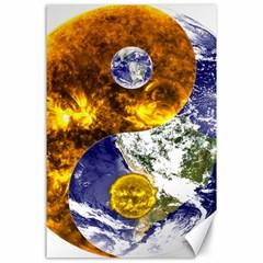 Design Yin Yang Balance Sun Earth Canvas 24  x 36