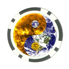 Design Yin Yang Balance Sun Earth Poker Chip Card Guard