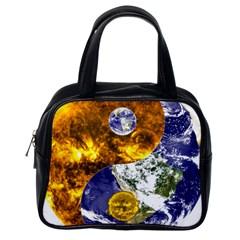 Design Yin Yang Balance Sun Earth Classic Handbags (one Side)