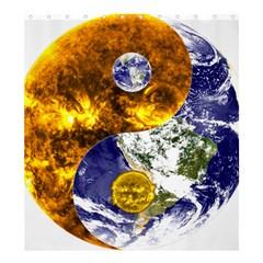 Design Yin Yang Balance Sun Earth Shower Curtain 66  X 72  (large)