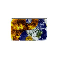 Design Yin Yang Balance Sun Earth Cosmetic Bag (small)
