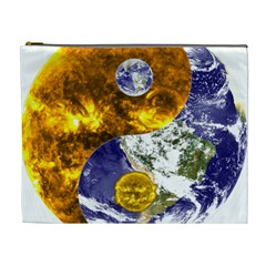 Design Yin Yang Balance Sun Earth Cosmetic Bag (xl)
