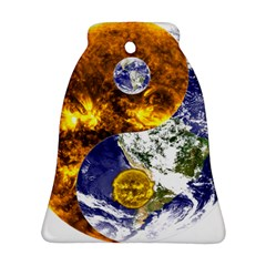 Design Yin Yang Balance Sun Earth Bell Ornament (Two Sides)