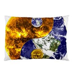 Design Yin Yang Balance Sun Earth Pillow Case (two Sides)