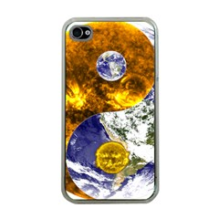 Design Yin Yang Balance Sun Earth Apple iPhone 4 Case (Clear)