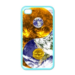 Design Yin Yang Balance Sun Earth Apple Iphone 4 Case (color)