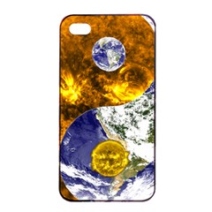 Design Yin Yang Balance Sun Earth Apple Iphone 4/4s Seamless Case (black)