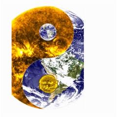Design Yin Yang Balance Sun Earth Large Garden Flag (Two Sides)