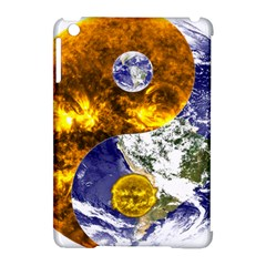 Design Yin Yang Balance Sun Earth Apple Ipad Mini Hardshell Case (compatible With Smart Cover)