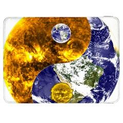 Design Yin Yang Balance Sun Earth Samsung Galaxy Tab 7  P1000 Flip Case