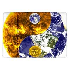 Design Yin Yang Balance Sun Earth Samsung Galaxy Tab 10 1  P7500 Flip Case