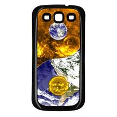 Design Yin Yang Balance Sun Earth Samsung Galaxy S3 Back Case (black)
