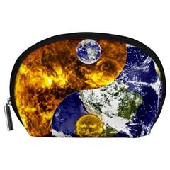 Design Yin Yang Balance Sun Earth Accessory Pouches (large)