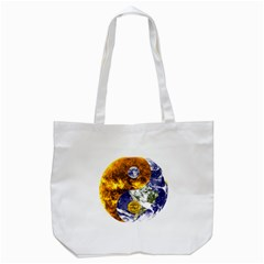 Design Yin Yang Balance Sun Earth Tote Bag (white)