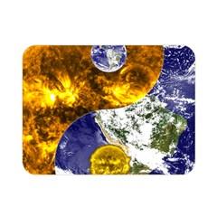Design Yin Yang Balance Sun Earth Double Sided Flano Blanket (mini)