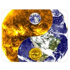 Design Yin Yang Balance Sun Earth Double Sided Flano Blanket (medium)