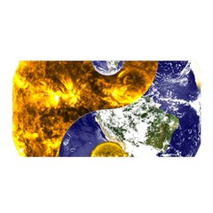 Design Yin Yang Balance Sun Earth Satin Wrap
