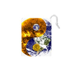 Design Yin Yang Balance Sun Earth Drawstring Pouches (XS)
