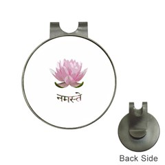 Namaste   Lotus Hat Clips With Golf Markers