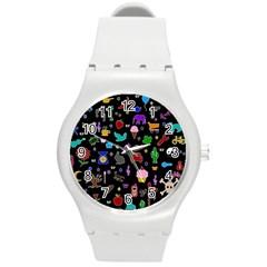 Rebus Round Plastic Sport Watch (m)