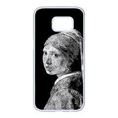 The Girl With The Pearl Earring Samsung Galaxy S7 Edge White Seamless Case