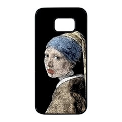 The Girl With The Pearl Earring Samsung Galaxy S7 Edge Black Seamless Case