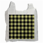 Plaid pattern Recycle Bag (One Side) Front