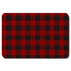 Plaid Pattern Large Doormat
