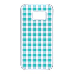 Plaid Pattern Samsung Galaxy S7 White Seamless Case