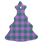 Plaid pattern Christmas Tree Ornament (Two Sides) Front
