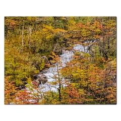 Colored Forest Landscape Scene, Patagonia   Argentina Rectangular Jigsaw Puzzl