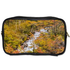 Colored Forest Landscape Scene, Patagonia   Argentina Toiletries Bags 2 Side