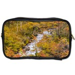Colored Forest Landscape Scene, Patagonia   Argentina Toiletries Bags 2-Side Front