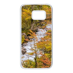 Colored Forest Landscape Scene, Patagonia   Argentina Samsung Galaxy S7 White Seamless Case