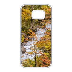 Colored Forest Landscape Scene, Patagonia   Argentina Samsung Galaxy S7 edge White Seamless Case