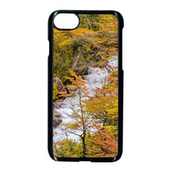 Colored Forest Landscape Scene, Patagonia   Argentina Apple Iphone 7 Seamless Case (black)