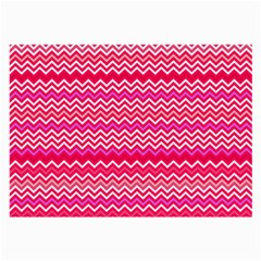 Valentine Pink and Red Wavy Chevron ZigZag Pattern Large Glasses Cloth