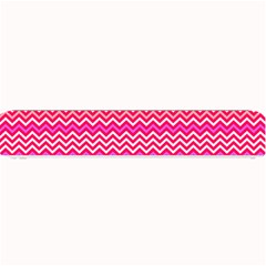Valentine Pink and Red Wavy Chevron ZigZag Pattern Small Bar Mats