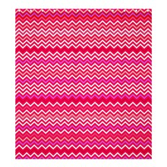 Valentine Pink and Red Wavy Chevron ZigZag Pattern Shower Curtain 66  x 72  (Large)